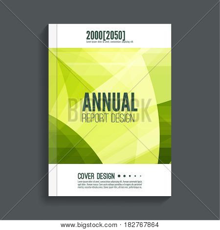 Green Cover for journal, magazine. Leaflet Flyer template A4 size design. Layout for book, brochure, flyer, poster, booklet, leaflet, postcard, flier headline annual report vector