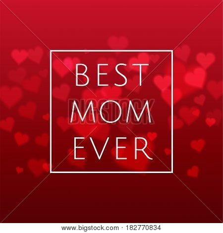 Happy Mothers Day Design Elements. Vector Illustration Invitation, Menu, Flyer, Template. Pink, Red
