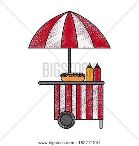 street food stand icon image vector illustration design