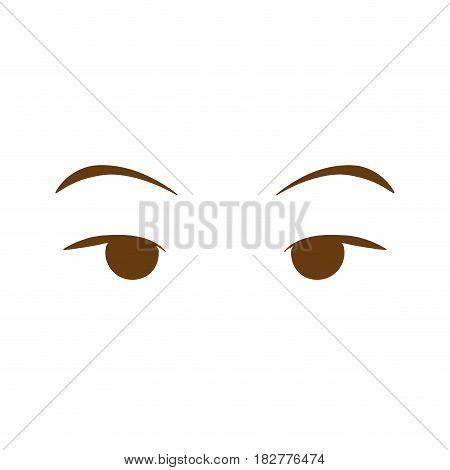 female eyes isolated icon vector illustration design