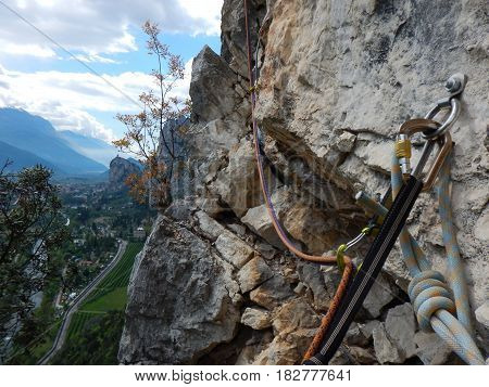 Castle In Arco In Italy With A Valley Panorama