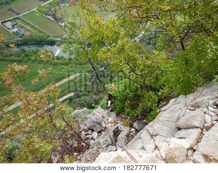 Valley Of The Sarca River In Trentino Alto Adige