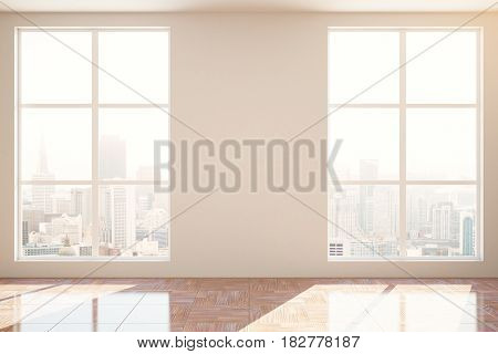 Unfurnished Interior With Blank Wall