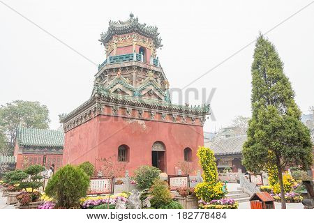 Henan, China - Nov 14 2015: Yanqing Taoist Temple. A Famous Historic Site In Kaifeng, Henan, China.