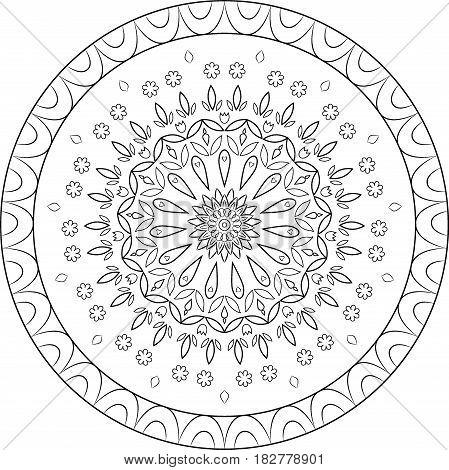 Mandala book coloring Page, paint, pattern, template