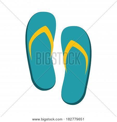spa flip flops icon vector illustration design