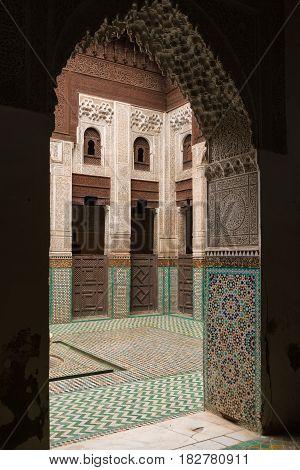 Madrasa Bou Inania In Meknes Medina, Morocco