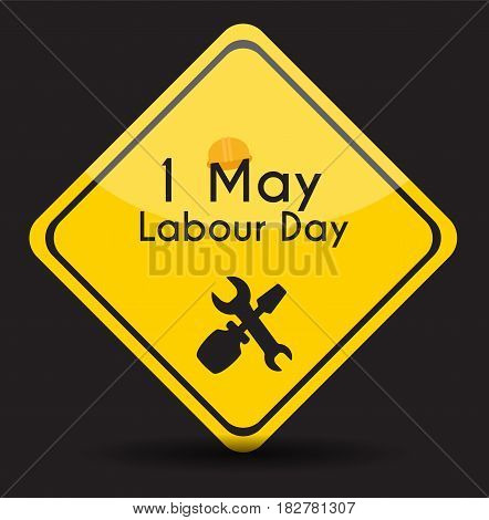 Labour Day 1 May Poster. Vector Illustration Background EPS10