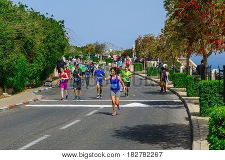Popular Charity Running (zau Larutz 4) In Haifa