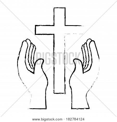 christian cross isolated icon vector illustration design
