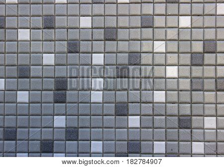Small Tiles in Grey and White as Background