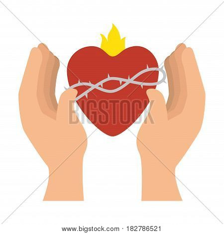 sacred jesus heart icon vector illustration design