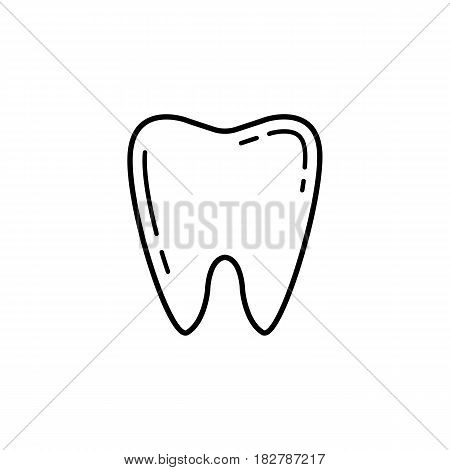 Tooth line icon, Dental and medicine, vector graphics, a linear pattern on a white background, eps 10.