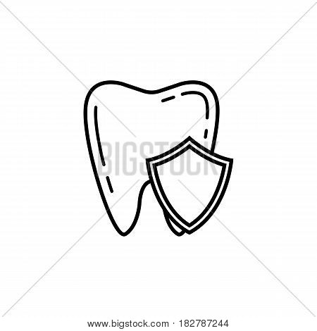 Tooth Protection line icon, Dental and medicine, vector graphics, a linear pattern on a white background, eps 10.