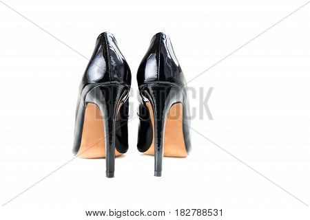 Stylish Black Stiletto Shoes or High Heels, Isolated
