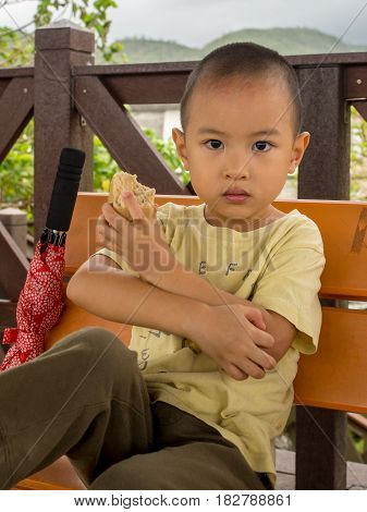 Portrait Of Taiwanese Boy