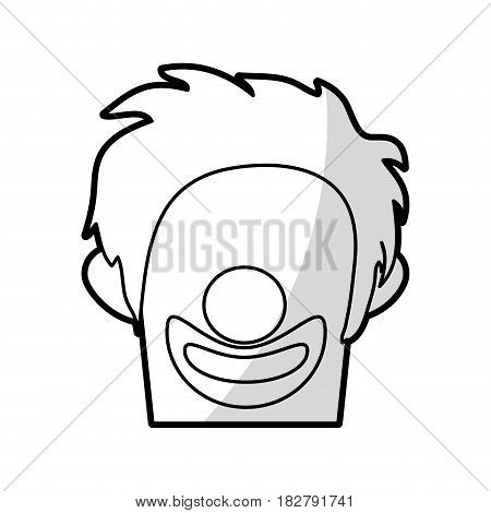 clown with no eyes cartoon icon image vector illustration design