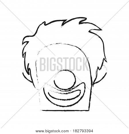 clown with no eyes cartoon icon image vector illustration design