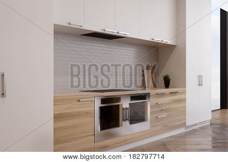 Close Up Of Kitchen With Two Ovens