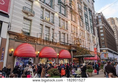 Macys Store Facade In New York City