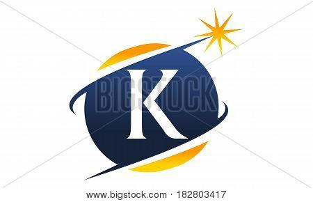This vector describe about Swoosh Logo Letter K