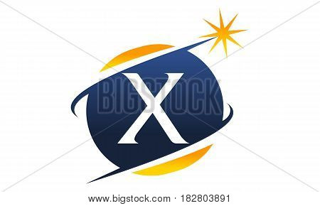 This vector describe about Swoosh Logo Letter X
