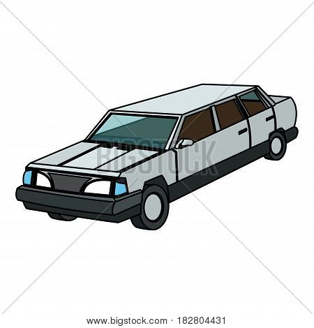 vintage 90s style car icon image vector illustration design