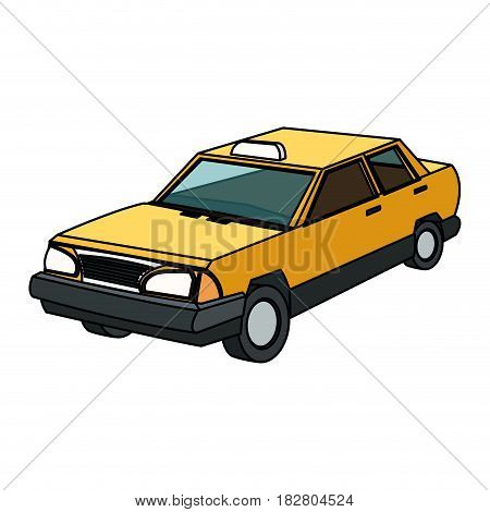 vintage 90s style taxi car icon image vector illustration design