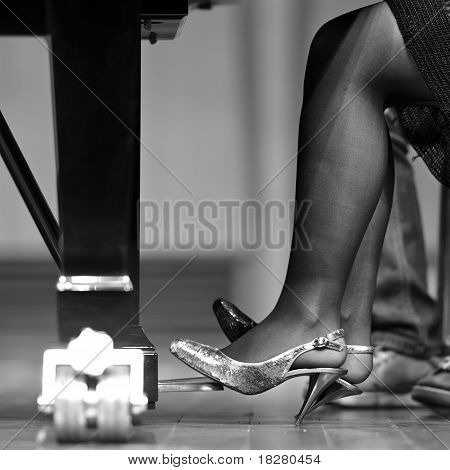 pedal of piano on concert