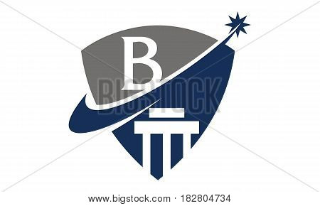 This vector describe about Justice Law Initial B