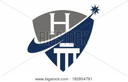 This vector describe about Justice Law Initial H