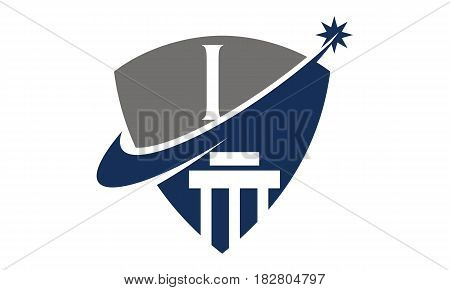 This vector describe about Justice Law Initial I