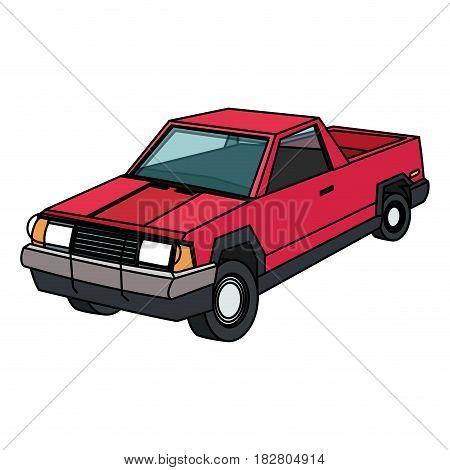 vintage 90s style truck car icon image vector illustration design