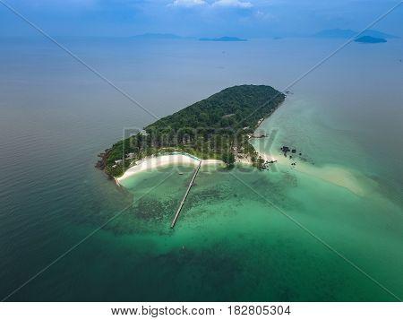 Aerial view of Koh Kham Trad Thailand