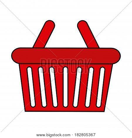 shopping basket icon image vector illustration design