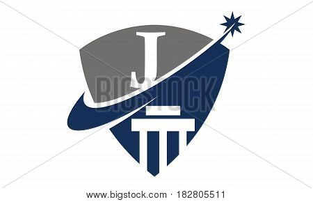 This vector describe about Justice Law Initial J