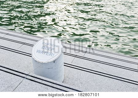 Caution Deep Water