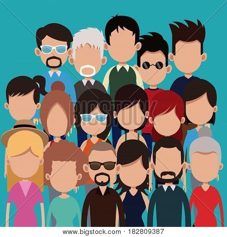 people group community different age culture vector illustration eps 10