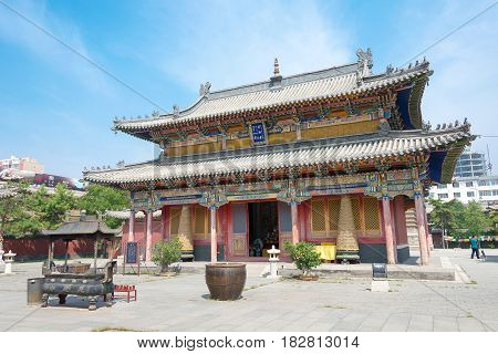Inner Mongolia, China - Aug 13 2015: Five Pagoda Temple(wutasi). A Famous Historic Site In Hohhot, I