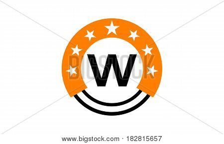 This vector describe about Star Union Initial W