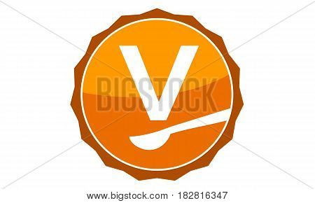This Vector describe about Restaurant Letter V