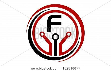 This vector describe about Digital World and Electrical Connections Initial F