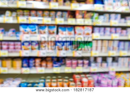 Supermarket Blurred Convenience Store Background