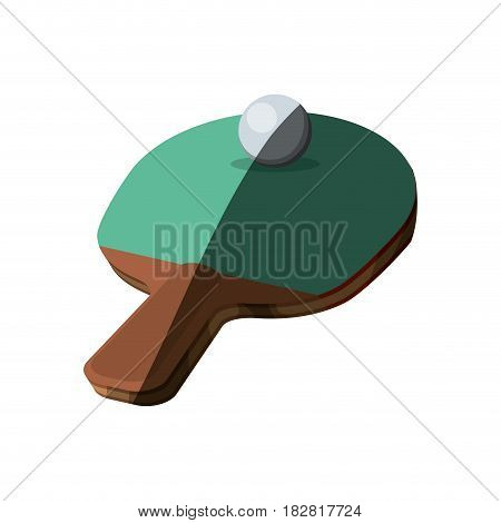 Ping pong racket icon vector illustration graphic design