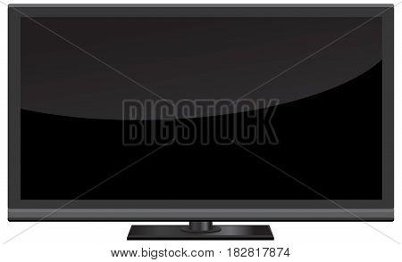TV screen of modern technology vector illustration.