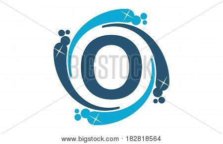 This vector describe about Water Clean Service Abbreviation Letter O