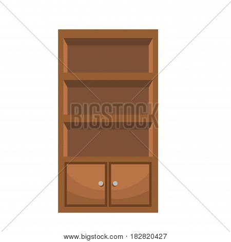 bookcase furniture wooden bookcase vector illustration eps 10