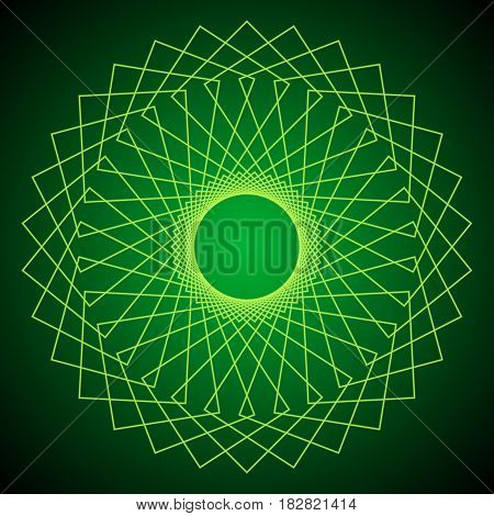 Flower of Life. Sacred Geometry. Abstract geometric pattern. Vector illustration