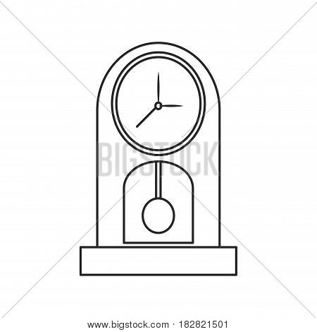 clock time watch pendulum outline vector illustration eps 10