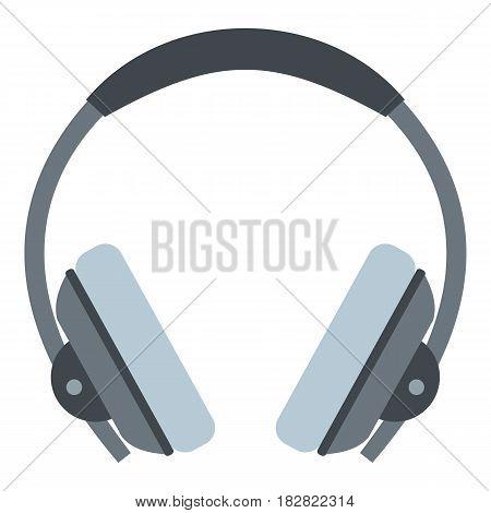 Headphone icon flat isolated on white background vector illustration